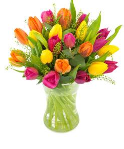 Snittblomster * Buketter - Klassisk blandet tulipanbukett