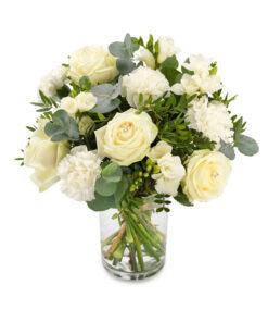 Snittblomster * Begravelse - Kondolansebukett : Uforglemmelig - En vidunderlig miks av hvite blomster.