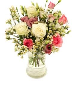 Snittblomster * Buketter - Nydelige roser engblomster / brudeslor og eustoma