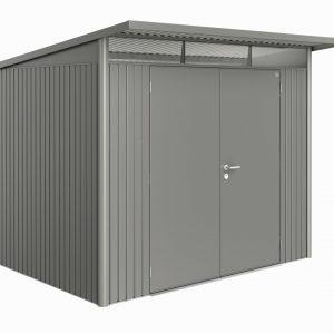 Horpestad Plantesalg * Redskapsbod - AvantGarde Størrelse L (metallisk kvarts grå med dobbel dør)