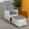Kingston regulerbare stoler med fotpall * Askegrå