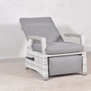 Queen recliner stol med fotskammel