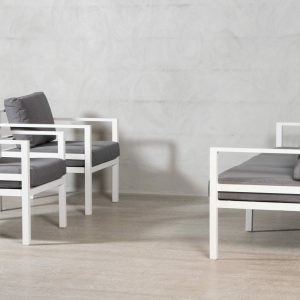 Adelaide * 3-seter sofa og 2 stoler – Mørk grå