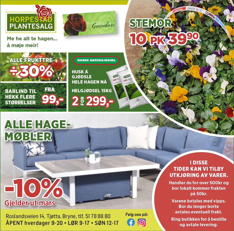 Horpestad Plantesalg * Ukens tilbud - uke 12