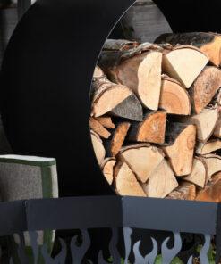 Horpestad Plantesalg * Utepeis og bålpanne - Vedstativ Fancy Flames rund